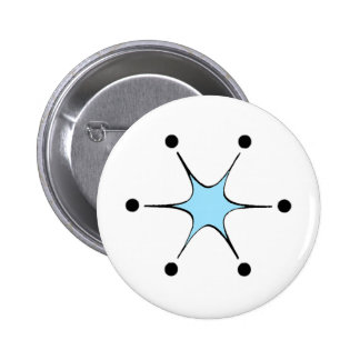 Light Blue Starburst Pinback Button