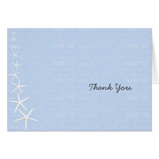 Light Blue Starfish, Wedding Thank You Card
