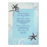 "Light Blue ""Starring"" Starfish Wedding Invitation 5"" X 7"" Invitation Card"