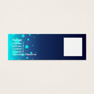 Light Blue Stars Mini Business Card