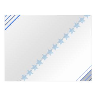 Light blue stars pattern postcard