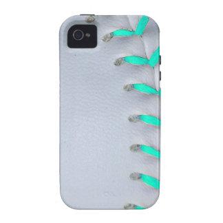 Light Blue Stitches Baseball / Softball Vibe iPhone 4 Cases