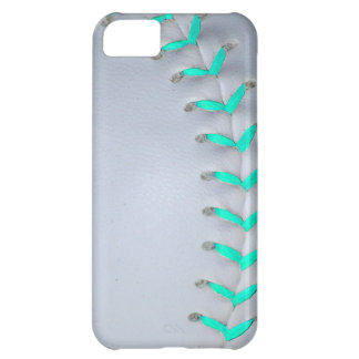 Light Blue Stitches Baseball / Softball iPhone 5C Covers