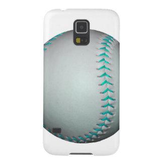 Light Blue Stitches Baseball / Softball Galaxy S5 Covers