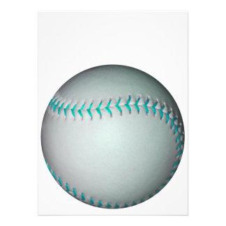 Light Blue Stitches Baseball / Softball Personalized Announcement