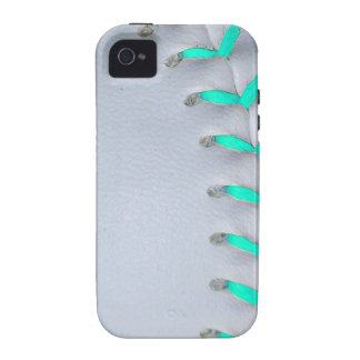 Light Blue Stitches Baseball / Softball iPhone 4 Covers