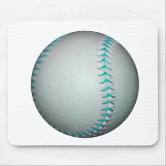 Light Blue Stitches Baseball / Softball Mouse Pad