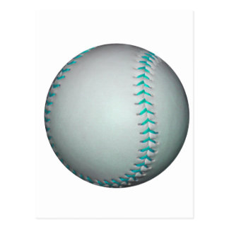 Light Blue Stitches Baseball / Softball Postcard