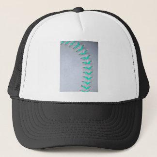 Light Blue Stitches Baseball / Softball Trucker Hat