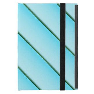 Light Blue Stripe Cover For iPad Mini