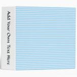 Light Blue Stripes. 3 Ring Binder
