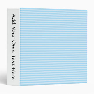 Light Blue Stripes. 3 Ring Binder