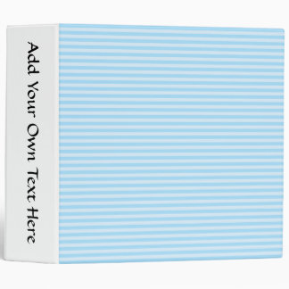 Light Blue Stripes. Binder