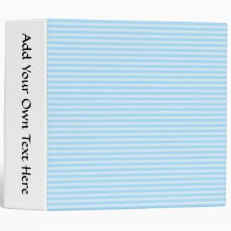 Light Blue Stripes. Vinyl Binders