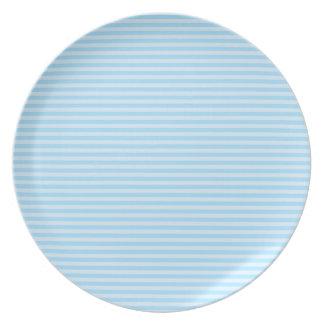 Light Blue Stripes. Dinner Plate