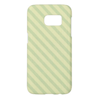 Light Blue Stripes Over Yellow Samsung Galaxy S7 Case