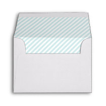 Light Blue Stripes Pattern Envelope