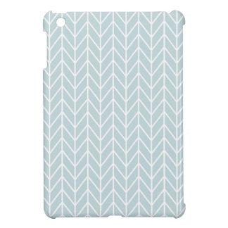 light blue stripes pattern iPad mini cover