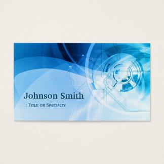 Light Blue Stylish - Modern and Hi-Tech Business Card