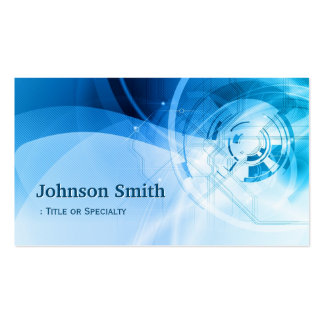 Light Blue Stylish - Modern and Hi-Tech Double-Sided Standard Business Cards (Pack Of 100)