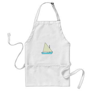 Light Blue Sunfish Sailboat Illustration Adult Apron