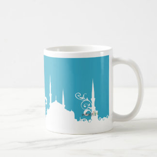 Light Blue swirl Mosque Photo Mug