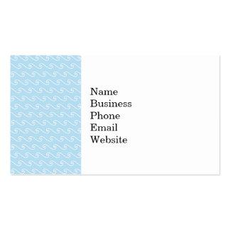 Light Blue Swirls Waves Nautical Beach Print Business Card