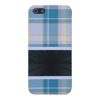 Light Blue Tartan With Ribbon Cover For iPhone SE/5/5s