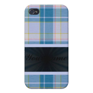 Light Blue Tartan With Ribbon iPhone 4/4S Cover