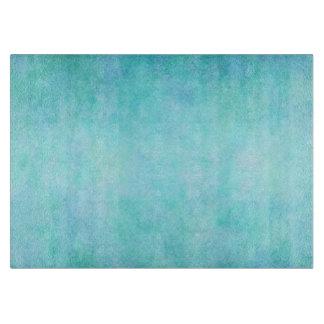 Light Blue Teal Aqua Watercolor Paper Colorful Cutting Board