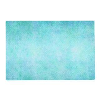 Light Blue Teal Aqua Watercolor Paper Colorful Laminated Placemat