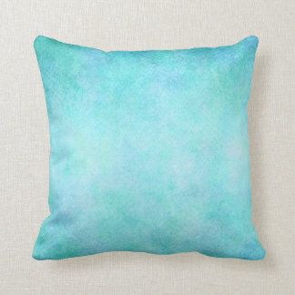 Light Blue Teal Aqua Watercolor Paper Colorful Throw Pillow