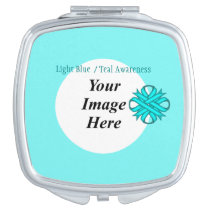 Light Blue / Teal Clover Ribbon Template Vanity Mirror