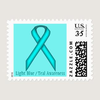 Light Blue / Teal Standard Ribbon Postage