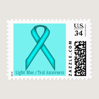 Light Blue / Teal Standard Ribbon Postage