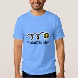 Light blue tennis t shirt | No grunting please