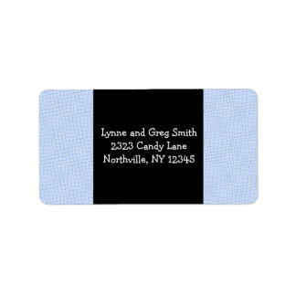 Light Blue Textured Background Label