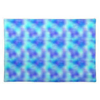 Light Blue Textured Glass Placemat