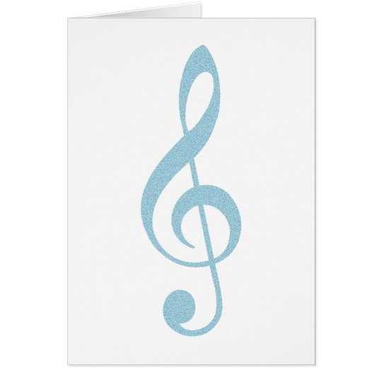 Light Blue Treble Clef Card