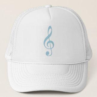 Light Blue Treble Clef Trucker Hat