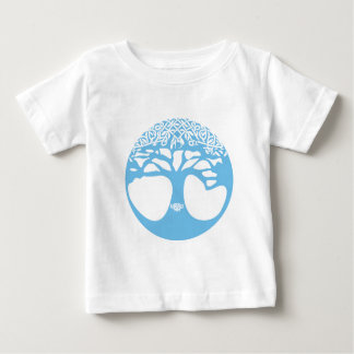 Light Blue Tree of Life with Celtic Knots Baby T-Shirt