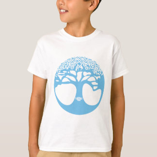 Light Blue Tree of Life with Celtic Knots T-Shirt