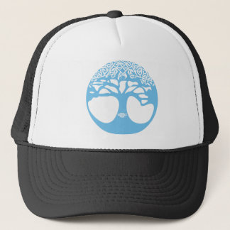 Light Blue Tree of Life with Celtic Knots Trucker Hat