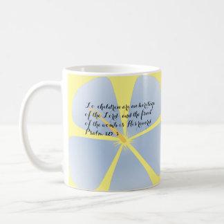 Light Blue Tropical Hibiscus Mug Bible Verse