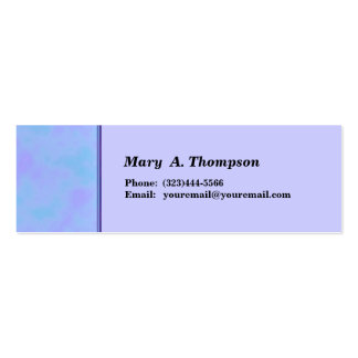 Light Blue Turquoise Texture side border Double-Sided Mini Business Cards (Pack Of 20)