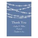 Light Blue Twinkle Lights Thank You Card