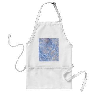 Light Blue Veined Grey Marble Adult Apron