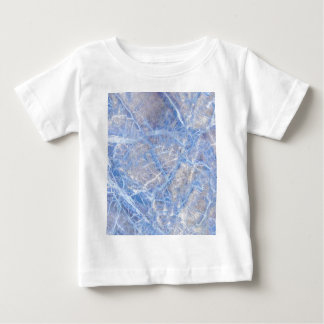 Light Blue Veined Grey Marble Baby T-Shirt