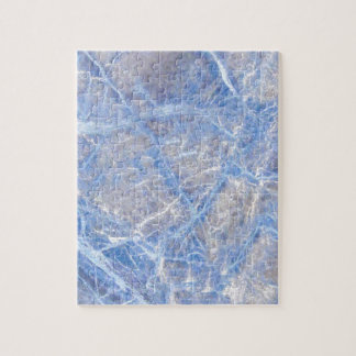 Light Blue Veined Grey Marble Jigsaw Puzzle