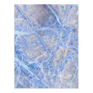 Light Blue Veined Grey Marble Postcard